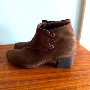 Arche MADE In FRANCE leather ankle bootie suede